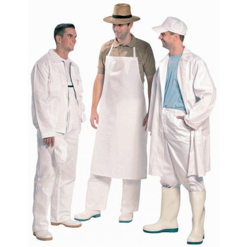 Fehér, pamut kabát