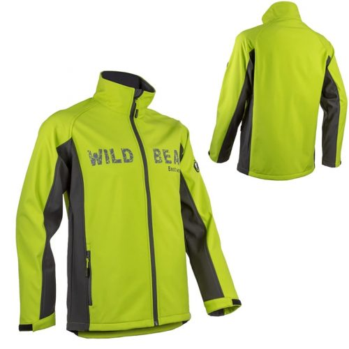 Piman kék/lime sportos férfi softshell kabát