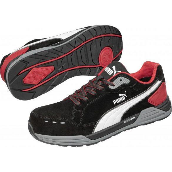 Airtwist Blk Red Low S3 ESD HRO SRC munkavédelmi cipő