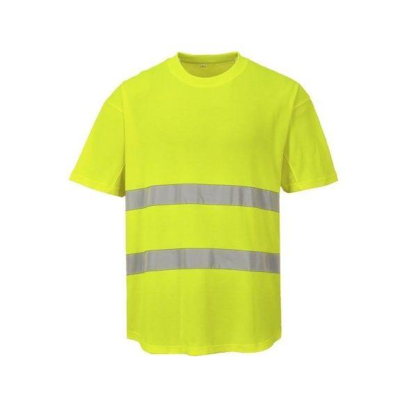 Hálós póló sárga